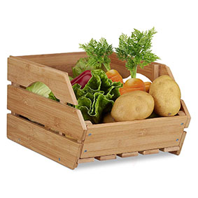Compactor Caja de Madera de Pino Natural e Instrucciones para Hacer Personalizables Beige